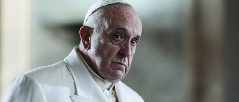 Pope Francis leaves after laying a wreath at the grave site of  the Turkish republic founder, Mustafa Kemal Ataturk, inside the Ataturk Mausoleum in Ankara, Friday, Nov. 28, 2014. Pope Francis arrived in Turkey on Friday at a sensitive moment for the Muslim nation, as it cares for 1.6 million refugees and weighs how to deal with the Islamic State group as its fighters grab chunks of Syria and Iraq across Turkey's southern border. (AP Photo/Markus Schreiber)